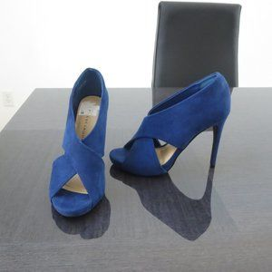 New Chinese Laundry Blue Suede High Heels
